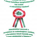 Március 15-i rendezvény Szászrégenben