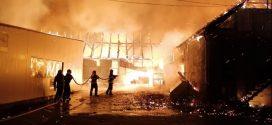 Óriási tűz pusztított Szászrégenben